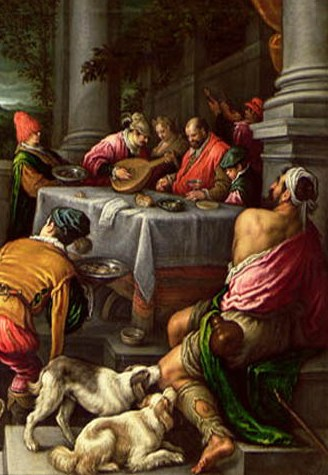 Dogs in the Bible: Lazarus and the rich man: the dogs lick the sores of Lazarus