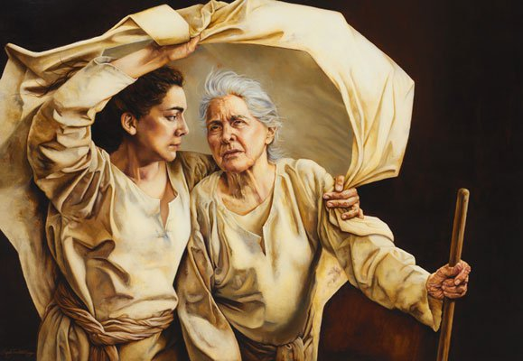 Ruth and Naomi, by Sandy Freckleton Gagon