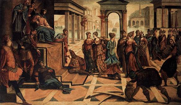 Solomon receives the visit of the Queen of Sheba, Tintoretto