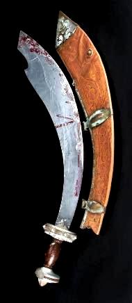 Blood-stained sword with its sheath