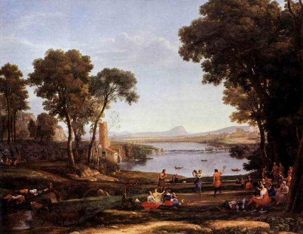 Rebecca, Isaac paintings: Landscape with the Marriage of Rebecca and Isaac, by Claude Lorrain