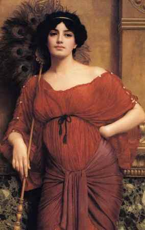 Bible history: dark-haired woman in Roman times, 19th century painting