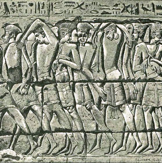 1-Philistine-captives-Medinet-Habu