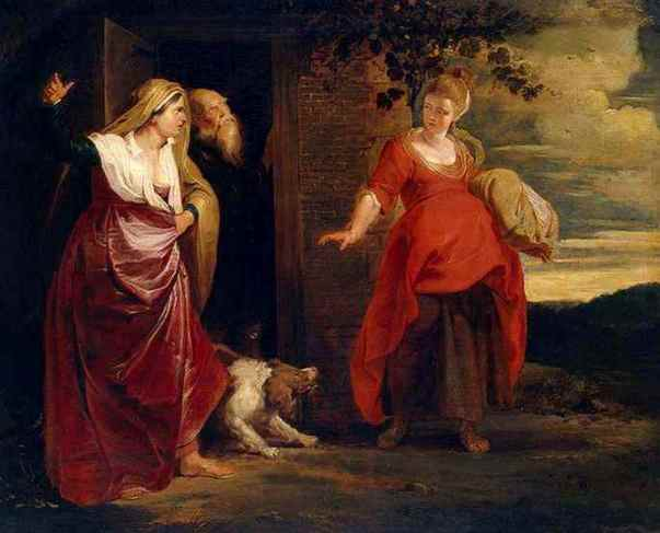 Paintings of Hagar & Sarah: 'Hagar Leaves the House of Abraham', Peter Paul Rubens, 1615- 1617