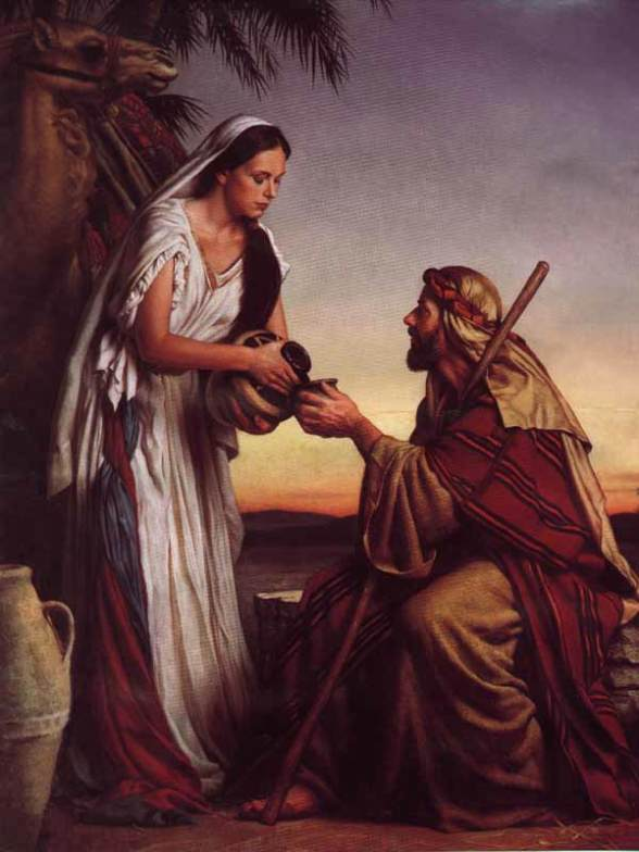 Rebecca, Isaac paintings: Michael Deas, Rebekah at the Well