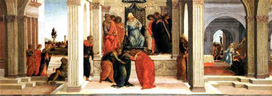 Filippino Lippi, Three scenes from the story of Queen Esther