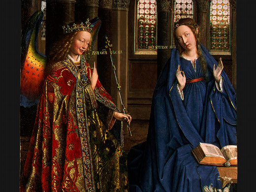 MARY OF NAZARETH, MOTHER OF JESUS: BIBLE WOMEN: VAN EYCK, ANNUNCIATION