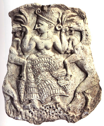 Women, work, worship: Carved image of an ancient fertility goddess