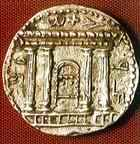 Facade of the Temple in Jerusalem, from a 1st century AD coin