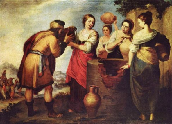 Rebecca, Isaac artworks: Murillo, Rebecca Offers Water