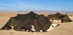 Bible history: nomads' tents in the Middle East