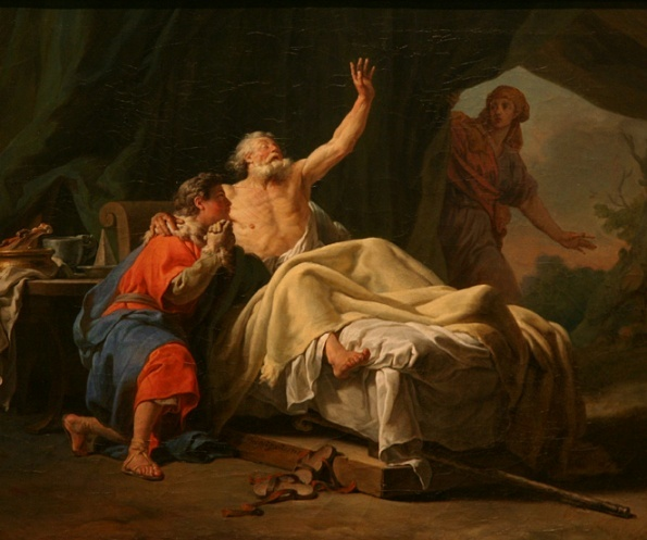 Rebecca, Isaac Paingings: Nicolas Guy Brenet: Rebecca Presents Isaac to Jacob