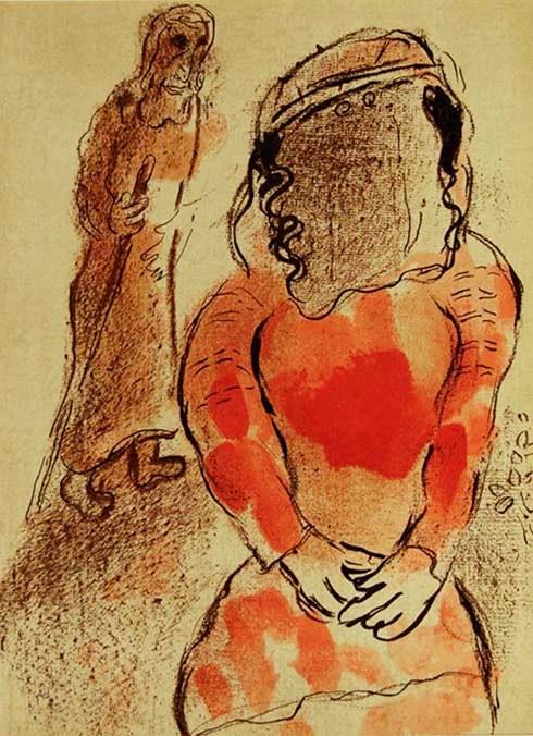 BIBLE PAINTINGS: TAMAR: Marc Chagall, Tamar Judah's daughter-in-law