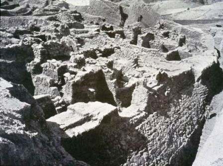 Bible history: excavated walls of ancient Jericho