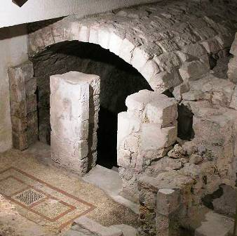An ancient mikveh, excavated in the Upper City of Jerusalem