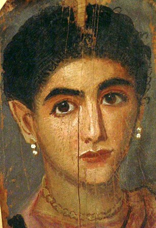 Bible history: portrait of 1st-2nd century Egyptian woman, from a Fayum coffin portrait