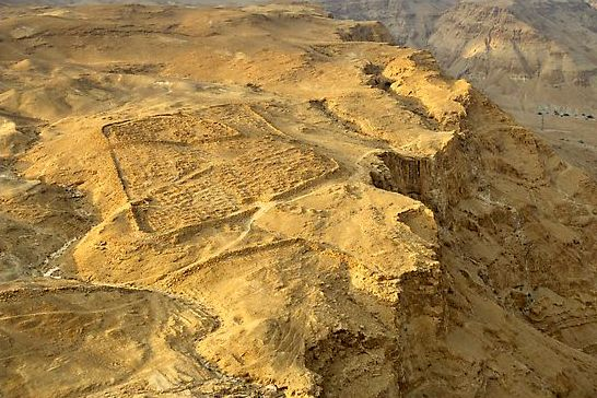 Remains of the Roman camp outside Masada