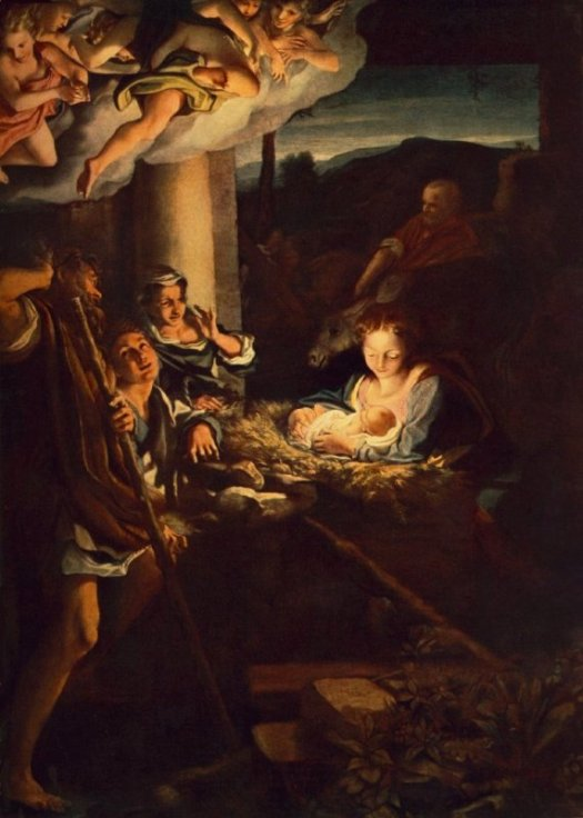 Paintings of Mary and Jesus, Nativity, Antonio da Correggio