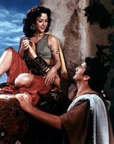 Ancient technology: Delilah with Samson, whose hair she wove into her spinning frame