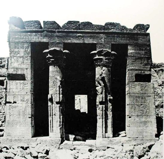 A 19th century photograph of the Egyptian Temple of Dendur,