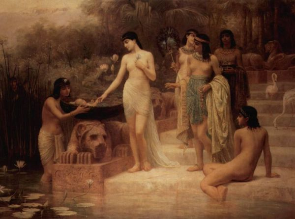 Moses Paintings: 'The Finding of Moses', Edwin Long