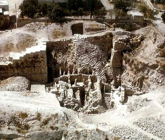 Jerusalem of King Solomon, Stepped stone structure