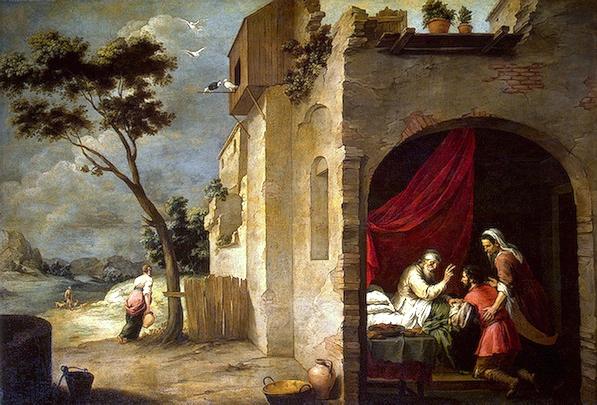 Rebecca, Isaac Paingings: Isaac Blessing Jacob, by Bartolome Esteban Murillo