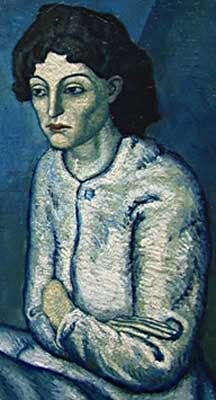 Adultery in the Bible: Woman with folded arms, Picasso
