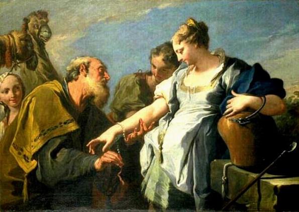 Rebecca, Isaac artworks: Giambattista Pittoni, Eliezer and Rebecca