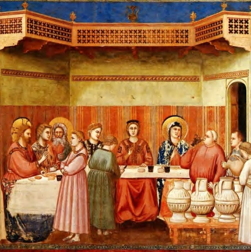 Christian painters like Giotto show the wedding at Cana as a sedate event; in fact there must have been some respectable drinking going on