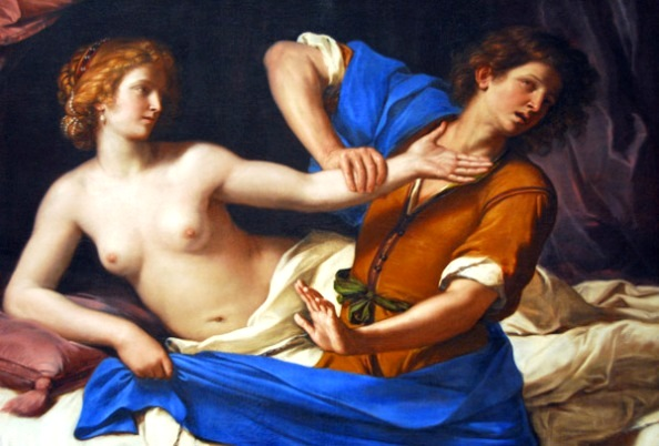 Bible Paintings: Giovanni Francesco Barbieri, called Guercino, Joseph and Potiphar's Wife