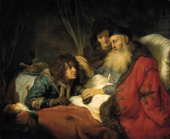 Paintings of Rebecca & Isaac: Isaac Blessing Jacob, by Govert Flinck