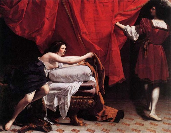 Bible Paintings: Joseph and Potiphar's Wife by Orazio Gentileschi