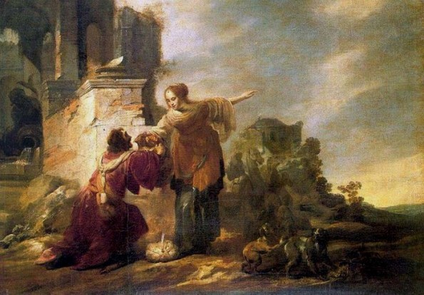 Rebecca, Isaac paintings: Jacob Hogers, Abraham's Servant with Rebecca,1616