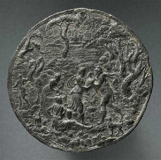 Rebecca, Isaac artworks: Metal disc by Hans Jamnitzer, Story of Eliezer and Rebecca