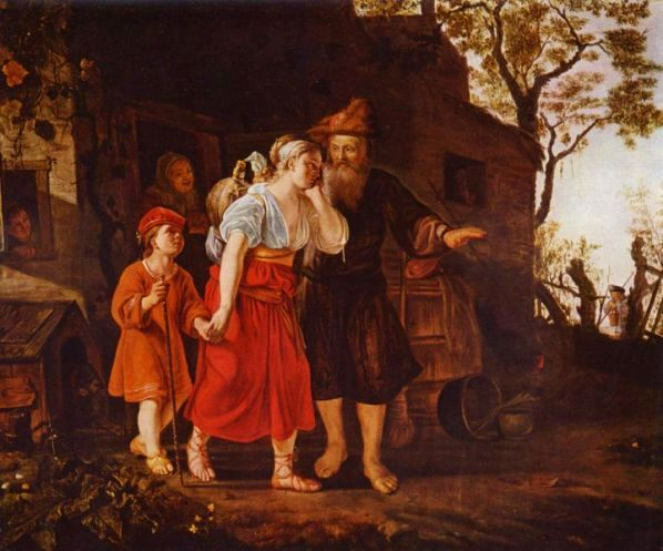 Paintings of Hagar & Sarah: 'Hagar Expelled', Jan Victors