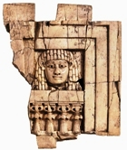 Ivory plaque, the Woman at the Window, linked with the Canaanite goddess