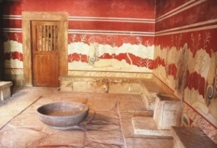 The Throne Room at Knossos may have been similar to the one in Solomon's palace