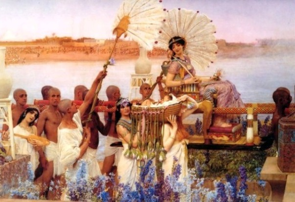 Moses Paintings: 'The Finding of Moses', Lawrence Alma-Tadema