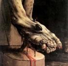 Crucifixion of Jesus, Matthias Grunewald, detail