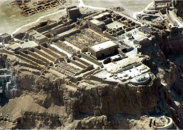 Living quarters and storerooms, Northern Palace, Masada