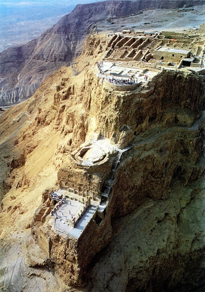 Masada: view of the three levels of King Herod's palace