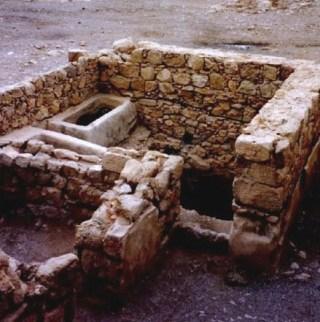 Masada: mikveh at Masada, used for ritual cleansing
