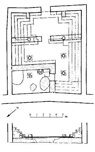 Masada: ground plan of the synagogue at Masada