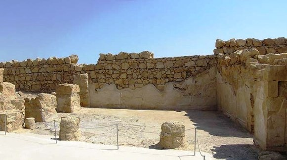 Masada: the triclinium or dining room in the Western Palace