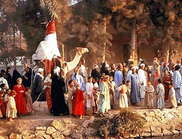 A wedding procession in the Middle East
