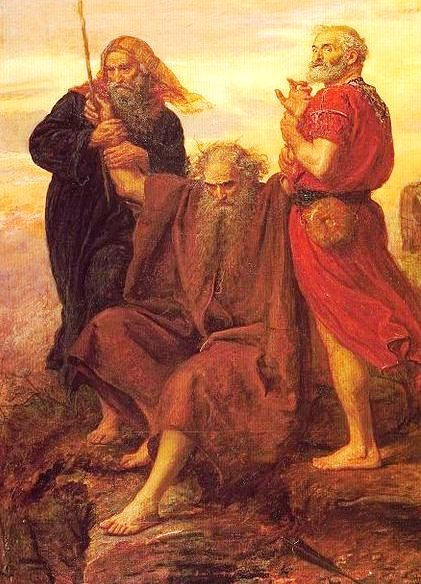 Paintings of Moses: Moses supported by Aaron and Hur, John Everett Millais