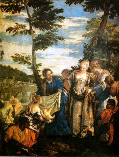 Moses Paintings: Moses Found, Paolo Veronese