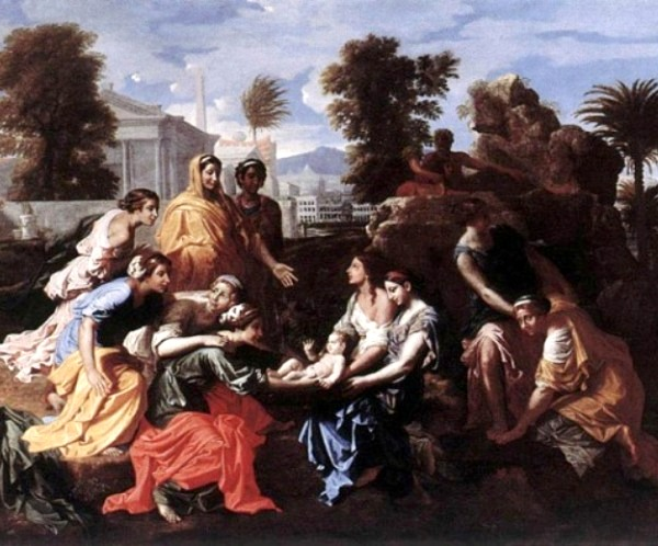 Moses Paintings: 'The Baby Moses Saved From The River', Nicolas Poussin