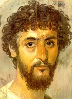 One of the famous Fayum coffin portraits